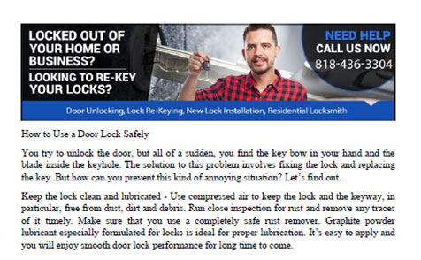 How to Use a Door Lock Safely in Studio City - Click to download